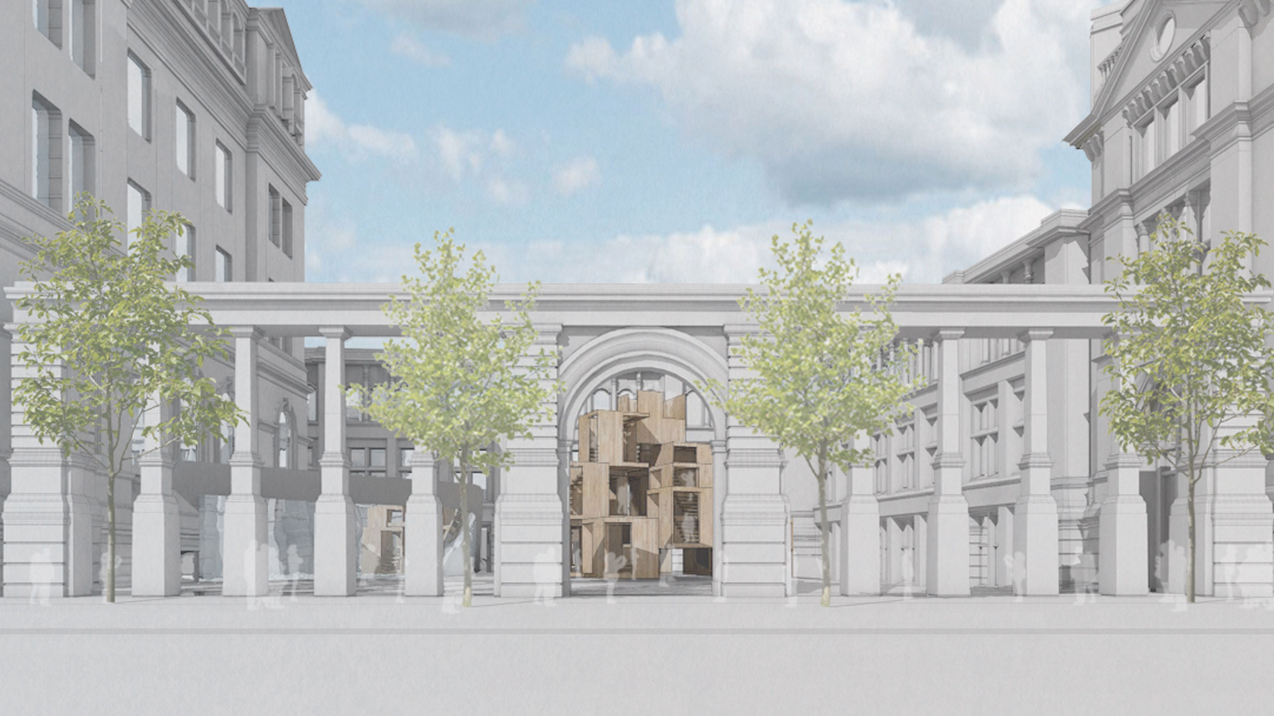 MultiPly will be shown in the newly remodelled Sackler Courtyard at the V&A Museum.