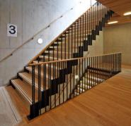 School of Music staircase, floor, wall and ceiling cladding