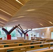 Chapel ceiling cladding