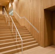Museum staircase, floor, ceiling, cladding and doors