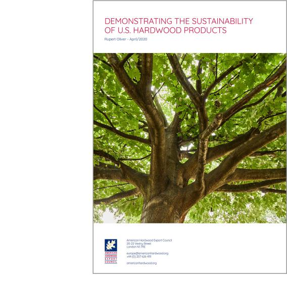 Demonstrating the sustainability of U.S. hardwood products front cover