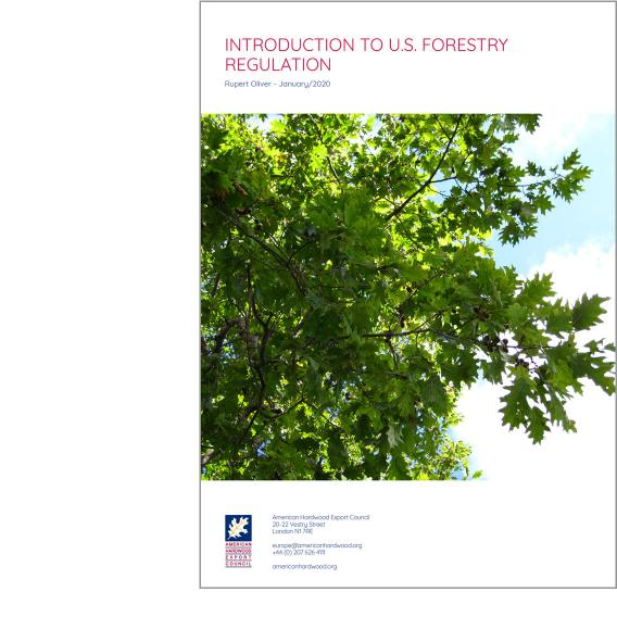 Introduction to U.S. forestry regulation front cover
