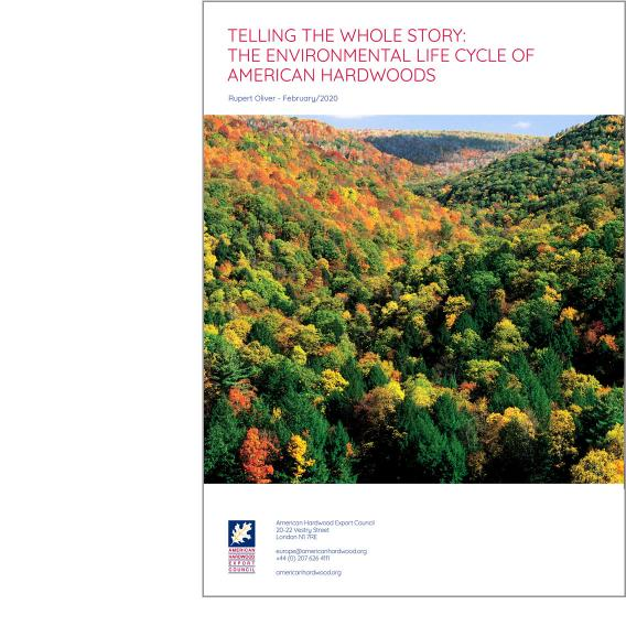 Telling the whole story: The environmental life cycle of American hardwoods